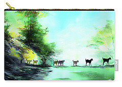 Carry-all Pouch featuring the painting Shepherd by Anil Nene