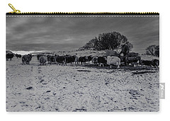 Carry-all Pouch featuring the photograph Shepherds Work by Keith Elliott