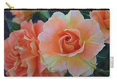 Carry-all Pouch featuring the photograph Sherbert Rose by Marna Edwards Flavell