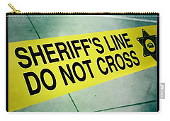 Carry-all Pouch featuring the photograph Sheriff's Line - Do Not Cross by Nina Prommer