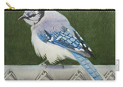 Sherrie's Bluejay Carry-all Pouch by Constance DRESCHER