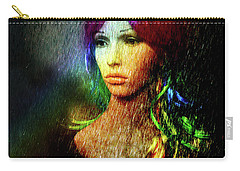 Carry-all Pouch featuring the photograph She's Like A Rainbow by LemonArt Photography
