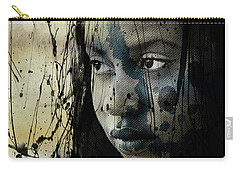 Carry-all Pouch featuring the mixed media She's Out Of My Life  by Paul Lovering