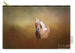 Carry-all Pouch featuring the photograph Shetland Pony by Marion Johnson