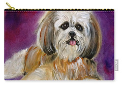 Shih-tzu Puppy Carry-all Pouch by Jenny Lee