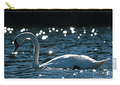 Shining Swan Carry-all Pouch