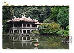 Shinjuku-gyoen Tea House Carry-all Pouch by Corinne Rhode