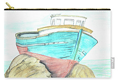 Ship Wreck Carry-all Pouch by Terry Frederick