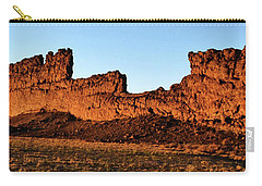 Shiprock Lava Wall 003 Panorama Carry-all Pouch by George Bostian
