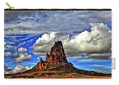 Carry-all Pouch featuring the photograph Shiprock Panorama by Scott Mahon