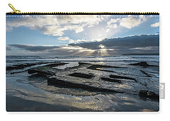 Shipwreck And Sun Rays Carry-all Pouch