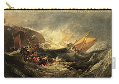 Shipwreck Of The Minotaur Carry-all Pouch by J M William Turner