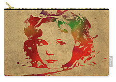 Shirley Temple Watercolor Portrait Carry-all Pouch