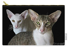 Shiro And Petunia Carry-all Pouch by Jennie Breeze