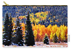 Shivering Pines In Autumn Carry-all Pouch by Diane Alexander