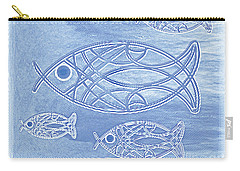 Shoal Of Fish Abstract Carry-all Pouch