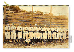 Carry-all Pouch featuring the photograph Shoeless Joe Jackson Age 19 With His Greenville South Carolina Baseball Team 1908 by Peter Gumaer Ogden