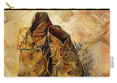 Carry-all Pouch featuring the painting Shoes                                   by Vincent van Gogh