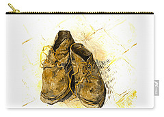 Carry-all Pouch featuring the photograph Shoes by John Stephens