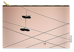 Shoes On A Wire Carry-all Pouch by Linda Hollis
