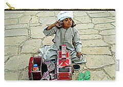 Carry-all Pouch featuring the digital art Shoeshine Girl - Nile River, Egypt by Joseph Hendrix