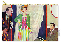 Carry-all Pouch featuring the photograph Shopping 1914 by Padre Art