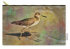 Carry-all Pouch featuring the painting Shore Bird Beauty by Deborah Benoit