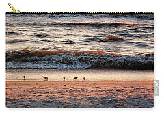 Carry-all Pouch featuring the photograph Shorebirds by Lars Lentz
