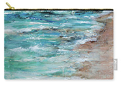 Shoreline And Pier Carry-all Pouch by Linda Olsen