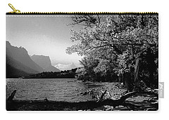 Shoreline Black And White Carry-all Pouch