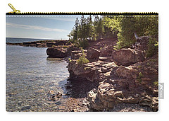 Shoreline In The Upper Michigan Carry-all Pouch by Alan Casadei