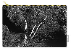 Carry-all Pouch featuring the photograph Shoreline Tree by Roger Mullenhour