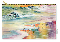 Shoreline Watercolor Carry-all Pouch by Melly Terpening