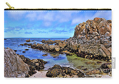 Shores Of Pacific Grove  Carry-all Pouch by Gina Savage