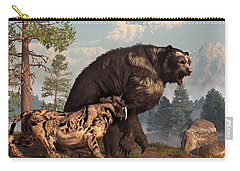 Short-faced Bear And Saber-toothed Cat Carry-all Pouch