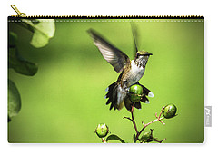 Short Field Landing - Hummingbird Carry-all Pouch by Barry Jones
