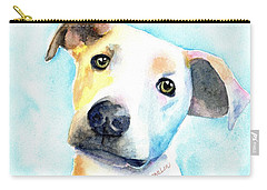 Short Hair White And Brown Dog Carry-all Pouch