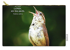 Carry-all Pouch featuring the photograph Shout For Joy by Kerri Farley