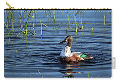 Carry-all Pouch featuring the photograph Shoveler by Jean Noren