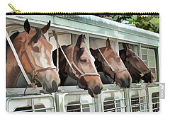 Carry-all Pouch featuring the photograph Show Horses On The Move  by Wilma Birdwell