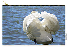 Showboating Swan   Carry-all Pouch