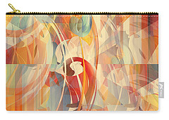 Carry-all Pouch featuring the digital art Shower Curtain No 1 by Robert G Kernodle