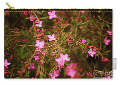 Shower Of Pink Carry-all Pouch by Cassandra Buckley