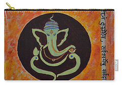 Carry-all Pouch featuring the painting Shri Ganeshay Namah by Sonali Gangane