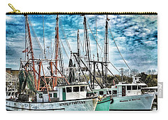 Carry-all Pouch featuring the photograph Shrimp Boats by Donald Paczynski
