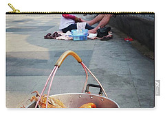Carry-all Pouch featuring the photograph Shrimping And Crabbing On The by Mr Photojimsf