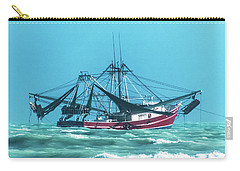 Carry-all Pouch featuring the photograph Shrimping On A Windy Day In Key West by Bob Slitzan