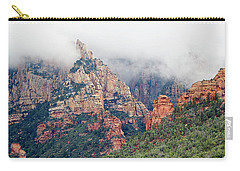 Carry-all Pouch featuring the photograph Shrouded In Clouds by Phyllis Denton