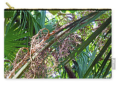 Carry-all Pouch featuring the photograph Shrub In Trees Contrast by Francesca Mackenney