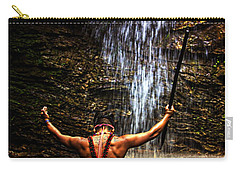 Carry-all Pouch featuring the photograph Shuar Shaman At Sucua Ecuador by Al Bourassa